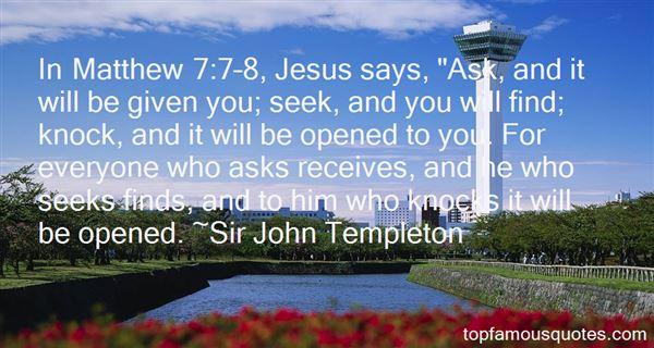 Sir John Templeton Quotes