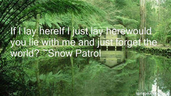 Snow Patrol Quotes