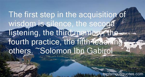 Solomon Ibn Gabirol Quotes