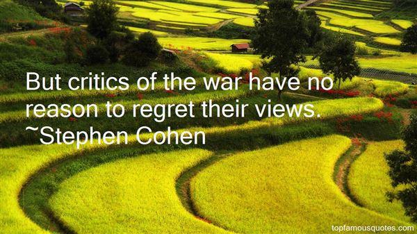Stephen Cohen Quotes
