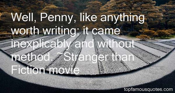 Stranger Than Fiction Movie Quotes
