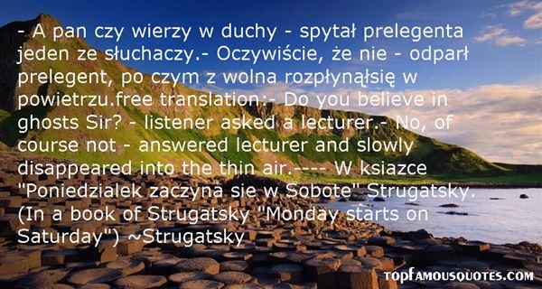 Strugatsky Quotes