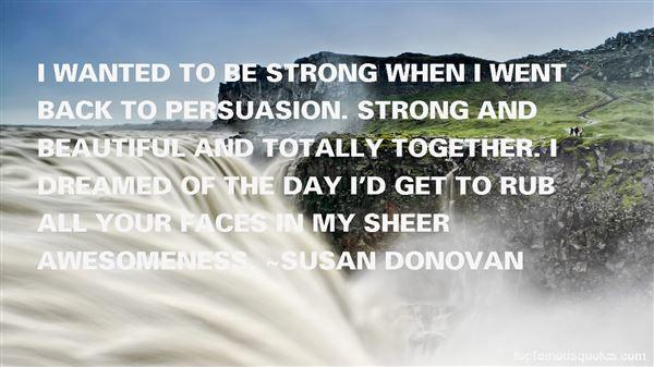 Susan Donovan Quotes