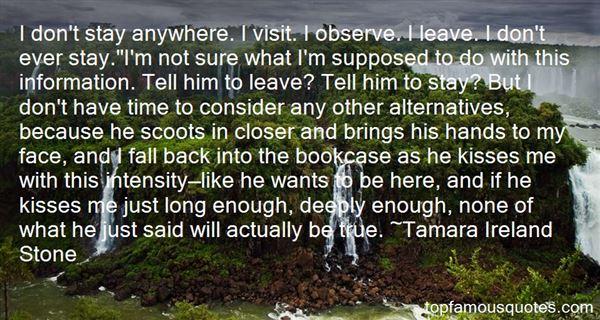 Tamara Ireland Stone Quotes