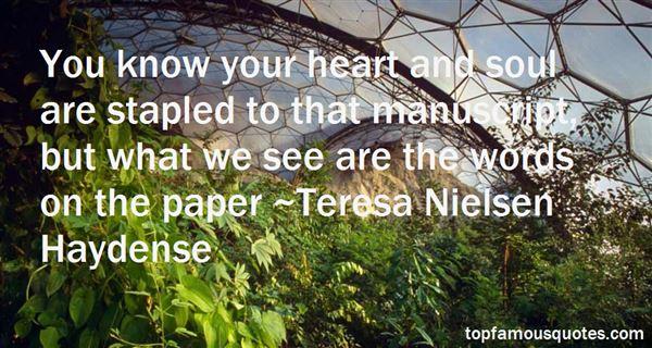 Teresa Nielsen Haydense Quotes