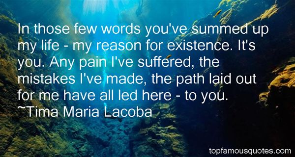 Tima Maria Lacoba Quotes