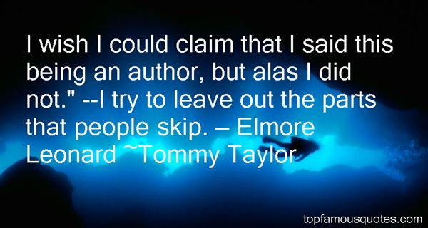 Tommy Taylor Quotes