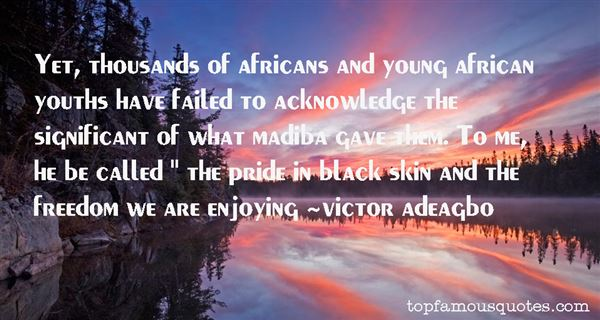 Victor Adeagbo Quotes