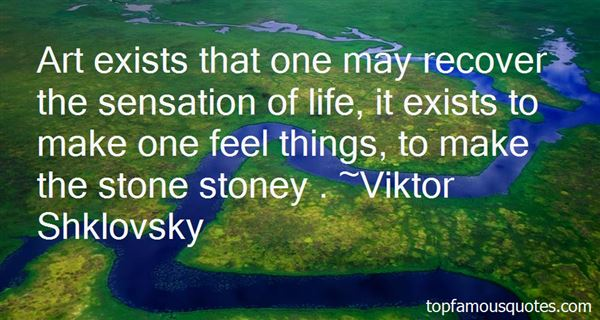 Viktor Shklovsky Quotes