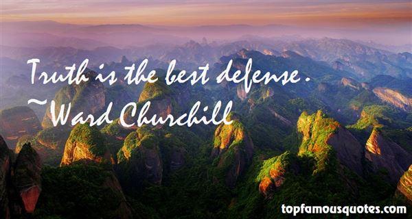 Ward Churchill Quotes