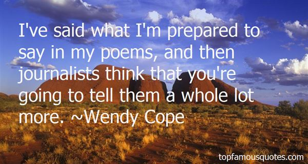 Wendy Cope Quotes