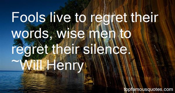 Will Henry Quotes