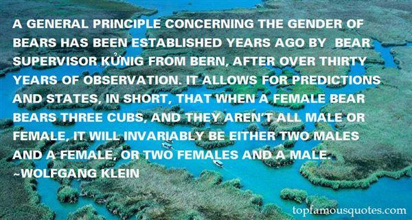 Wolfgang Klein Quotes