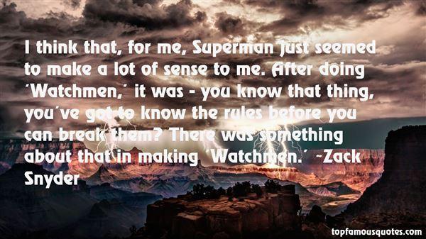 Zack Snyder Quotes