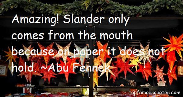 Abu Fennek Quotes