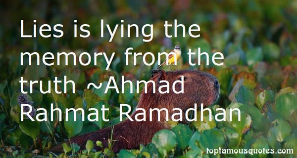 Ahmad Rahmat Ramadhan Quotes