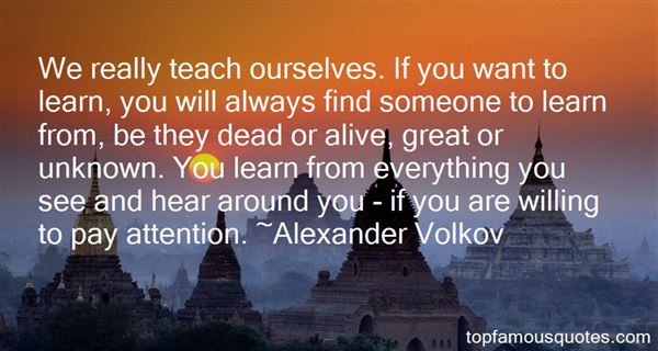 Alexander Volkov Quotes