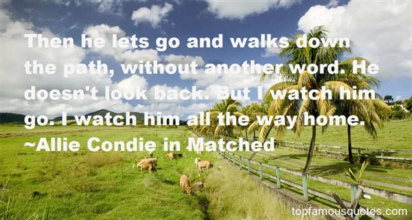 Allie Condie In Matched Quotes