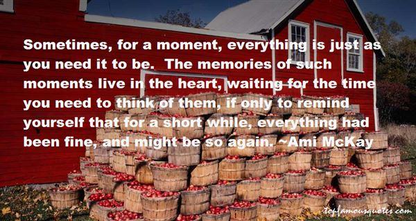 Ami McKay Quotes