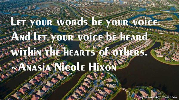Anasia Nicole Hixon Quotes
