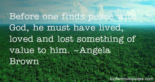 Angela Brown Quotes