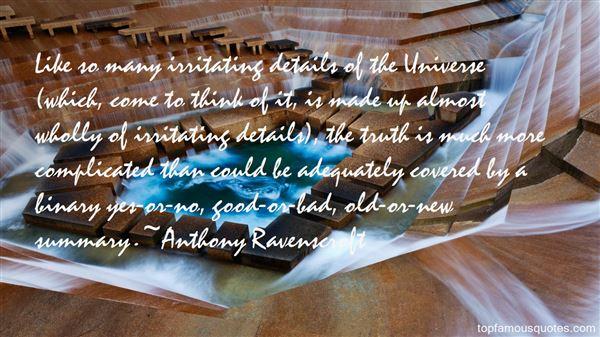 Anthony Ravenscroft Quotes