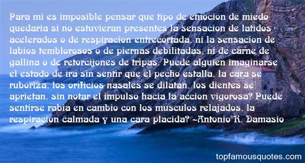 Antonio R. Damasio Quotes
