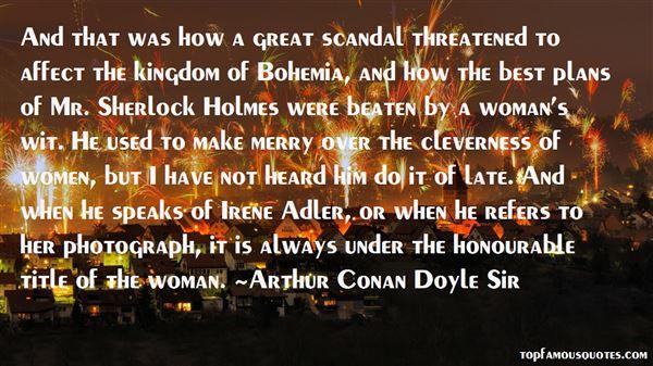 Arthur Conan Doyle Sir Quotes