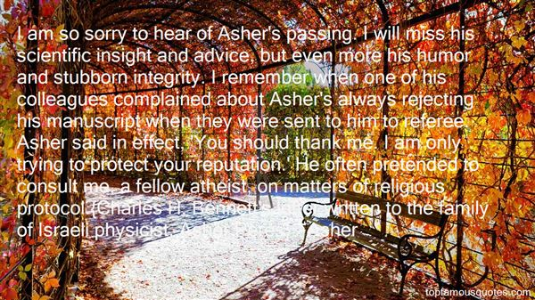 Asher Quotes