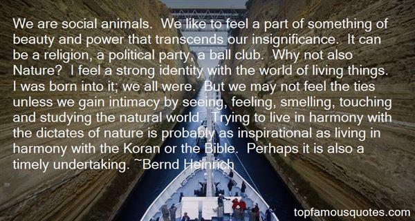Bernd Heinrich Quotes