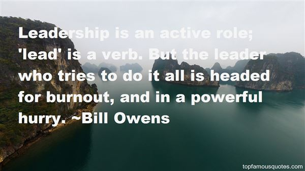 Bill Owens Quotes