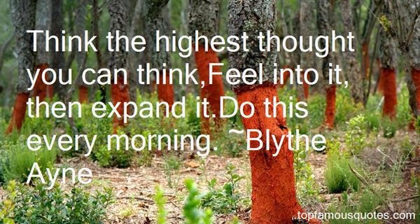 Blythe Ayne Quotes