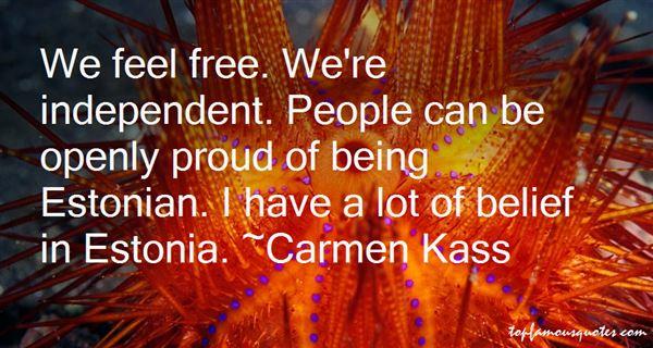 Carmen Kass Quotes