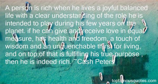 Cash Peters Quotes