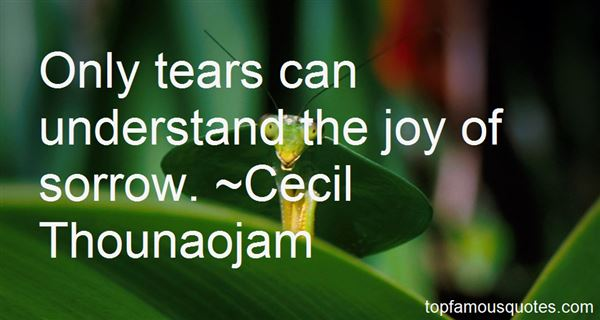 Cecil Thounaojam Quotes