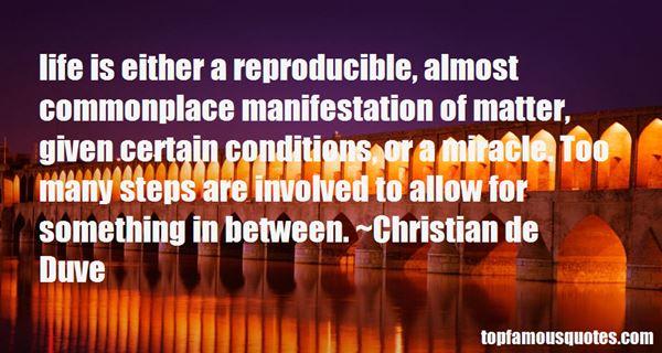 Christian De Duve Quotes