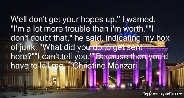 Christine Manzari Quotes
