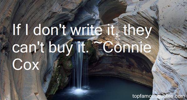 Connie Cox Quotes