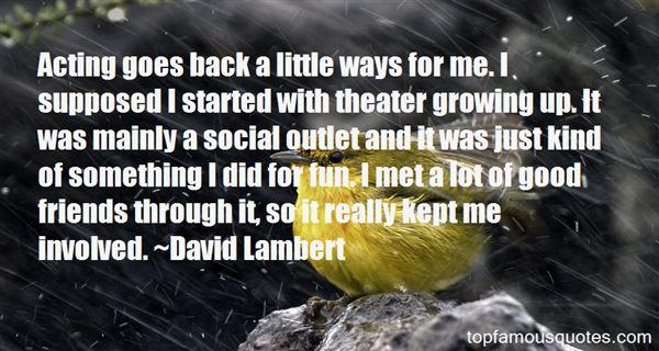 David Lambert Quotes