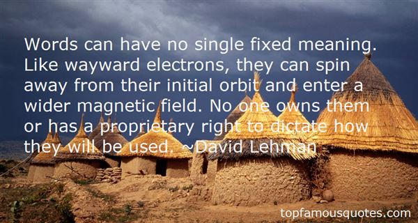 David Lehman Quotes