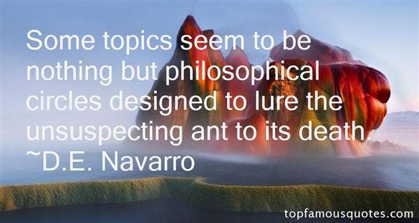 D.E. Navarro Quotes