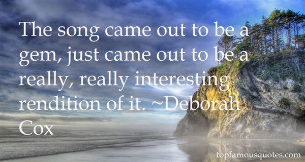 Deborah Cox Quotes
