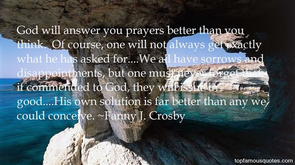 Fanny J. Crosby Quotes