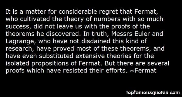 Fermat Quotes