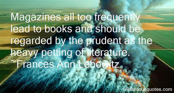 Frances Ann Lebowitz Quotes