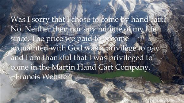 Francis Webster Quotes