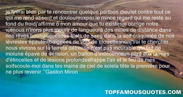 Gaston miron quotes
