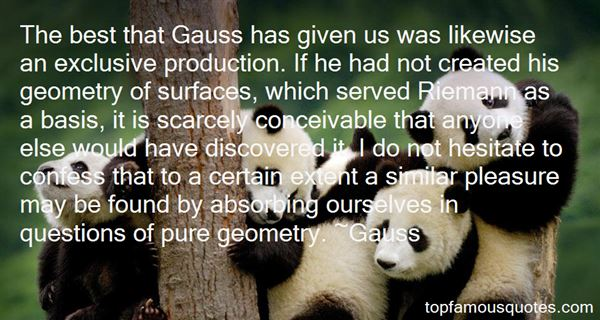 Gauss Quotes