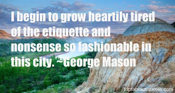 George Mason Quotes