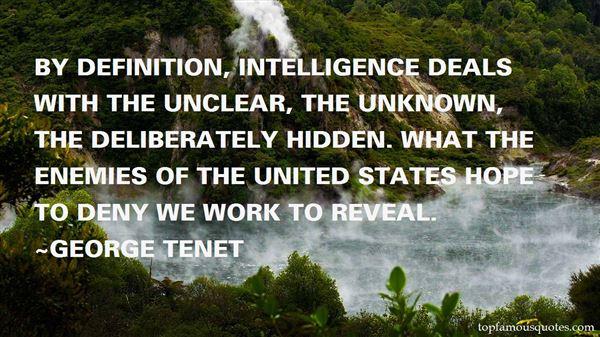 George Tenet Quotes